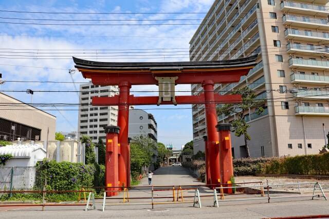 海神社の鳥居の写真