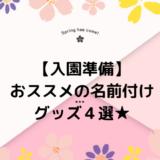 【入園準備】おススメの名前付けグッズ4選!