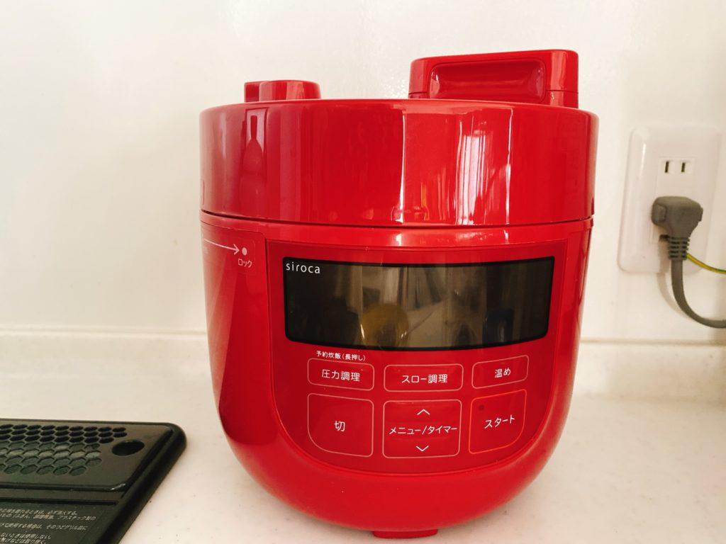 シロカの電気圧力鍋の写真