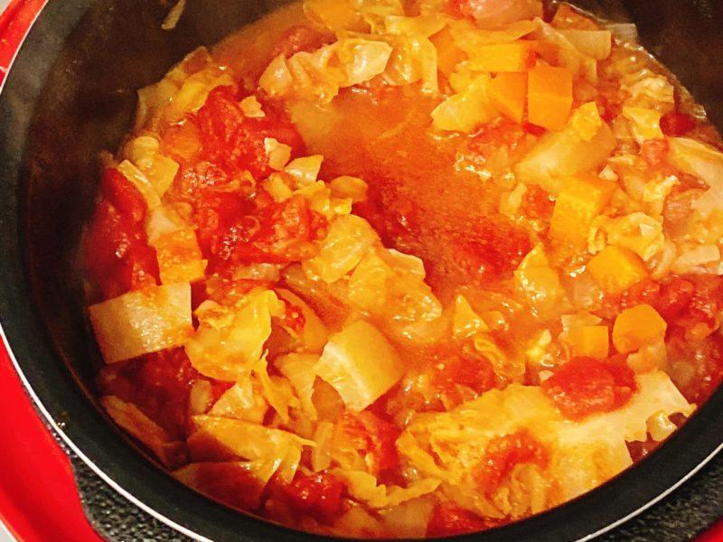 電気圧力鍋で作った野菜スープ